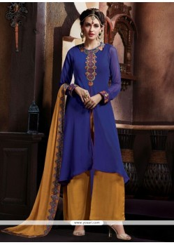 Striking Blue Designer Pakistani Suit
