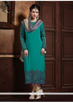 Specialised Embroidered Work Designer Straight Salwar Kameez