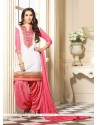 Karishma Kapoor Off White And Pink Designer Patiala Salwar Kameez