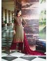 Cute Georgette Resham Work Designer Suit