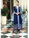 Glossy Navy Blue Designer Suit