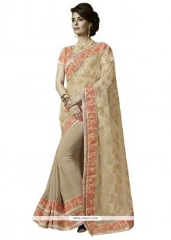Beckoning Aari Work Georgette Designer Saree