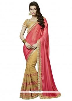Attractive Pink Designer Saree