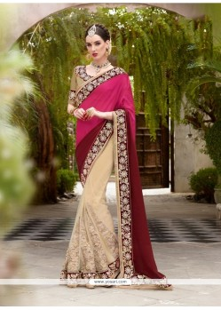 Debonair Embroidered Work Georgette Designer Saree