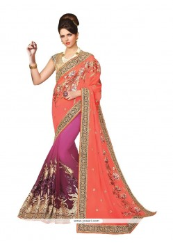 Best Georgette Patch Border Work Classic Designer Saree