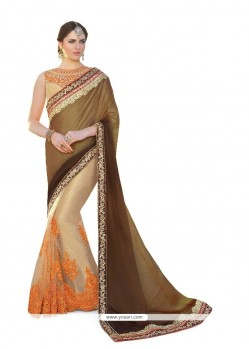 Enchanting Embroidered Work Georgette Classic Designer Saree