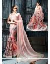 Sophisticated Patch Border Work Satin Designer Saree