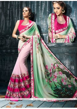 Desirable Patch Border Work Designer Saree
