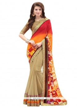 Luxurious Georgette Multi Colour Designer Saree