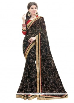 Ideal Georgette Print Work Designer Saree