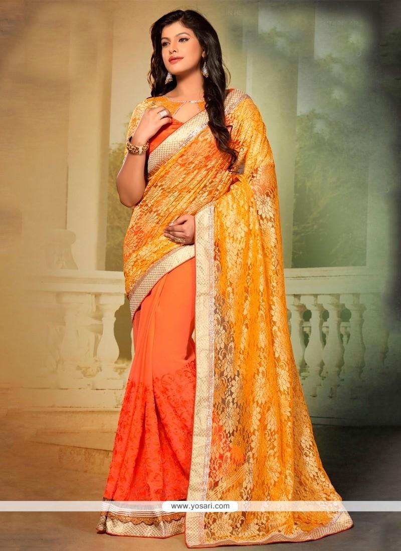 Pleasing Designer Saree For Festival