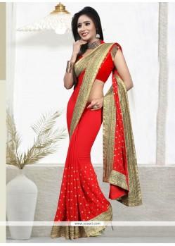 Aristocratic Georgette Red Designer Saree