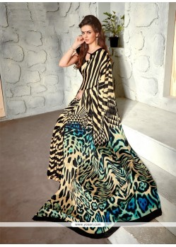 Awesome Faux Crepe Casual Saree