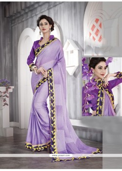 Whimsical Purple Casual Saree