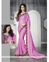 Magnificent Faux Chiffon Patch Border Work Casual Saree