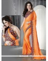 Voguish Faux Chiffon Patch Border Work Casual Saree
