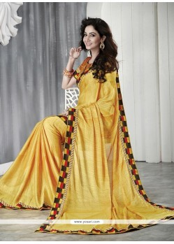 Tantalizing Faux Chiffon Casual Saree