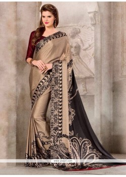 Magnetic Georgette Print Work Casual Saree