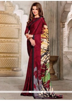 Breathtaking Print Work Georgette Casual Saree