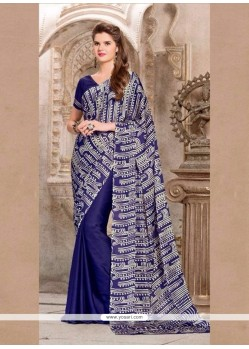 Hypnotic Navy Blue Casual Saree