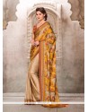 Impeccable Satin Print Work Casual Saree