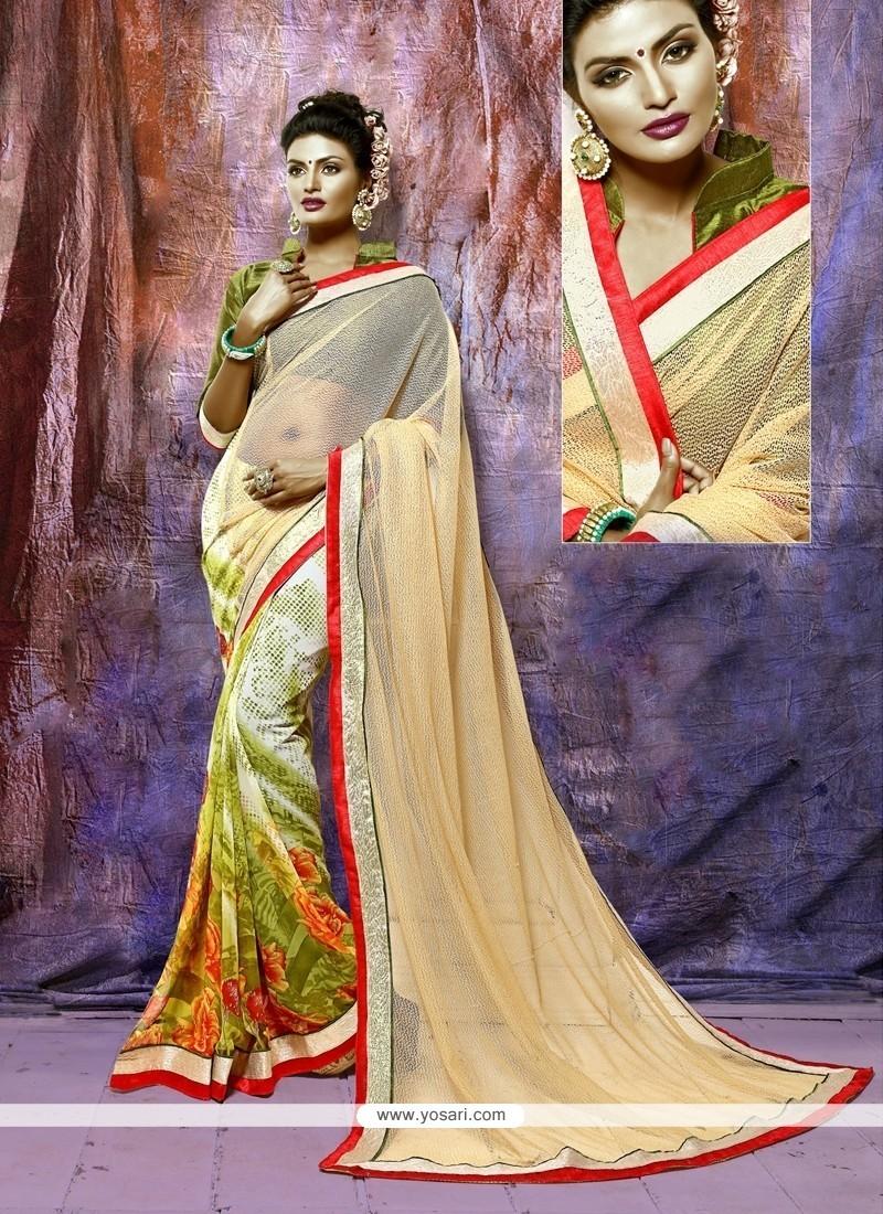 Attractive Multi Colour Georgette Casual Saree