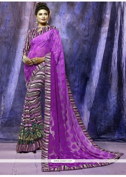 Stunning Brasso Purple Casual Saree