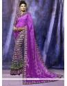 Stunning Brasso Purple Casual Saree