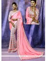 Staggering Pink Silk Casual Saree
