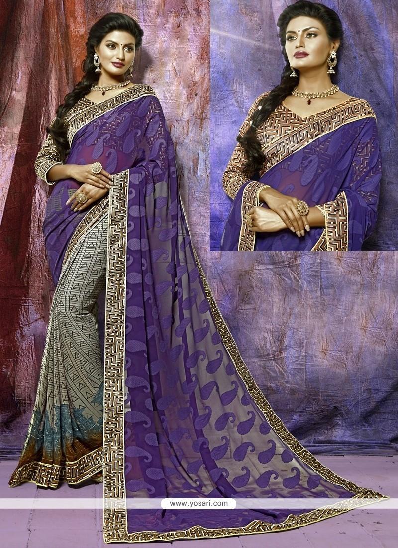 Absorbing Multi Colour Print Work Casual Saree