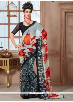 Splendid Georgette Multi Colour Casual Saree