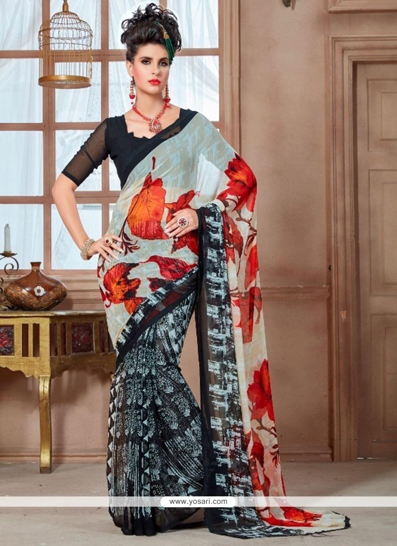Splendid Georgette Multi Colour Casual Saree