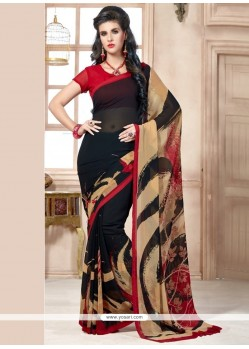 Latest Georgette Black Casual Saree