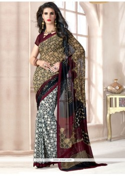 Mystic Multi Colour Georgette Casual Saree