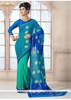 Dainty Print Work Georgette Casual Saree