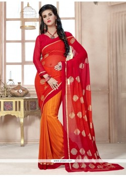 Best Georgette Print Work Casual Saree