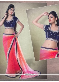 Astounding Patch Border Work Classic Designer Saree