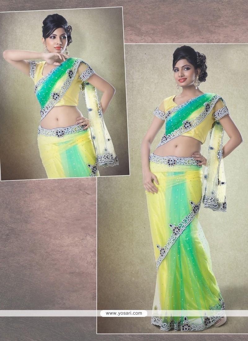 Flamboyant Net Classic Designer Saree