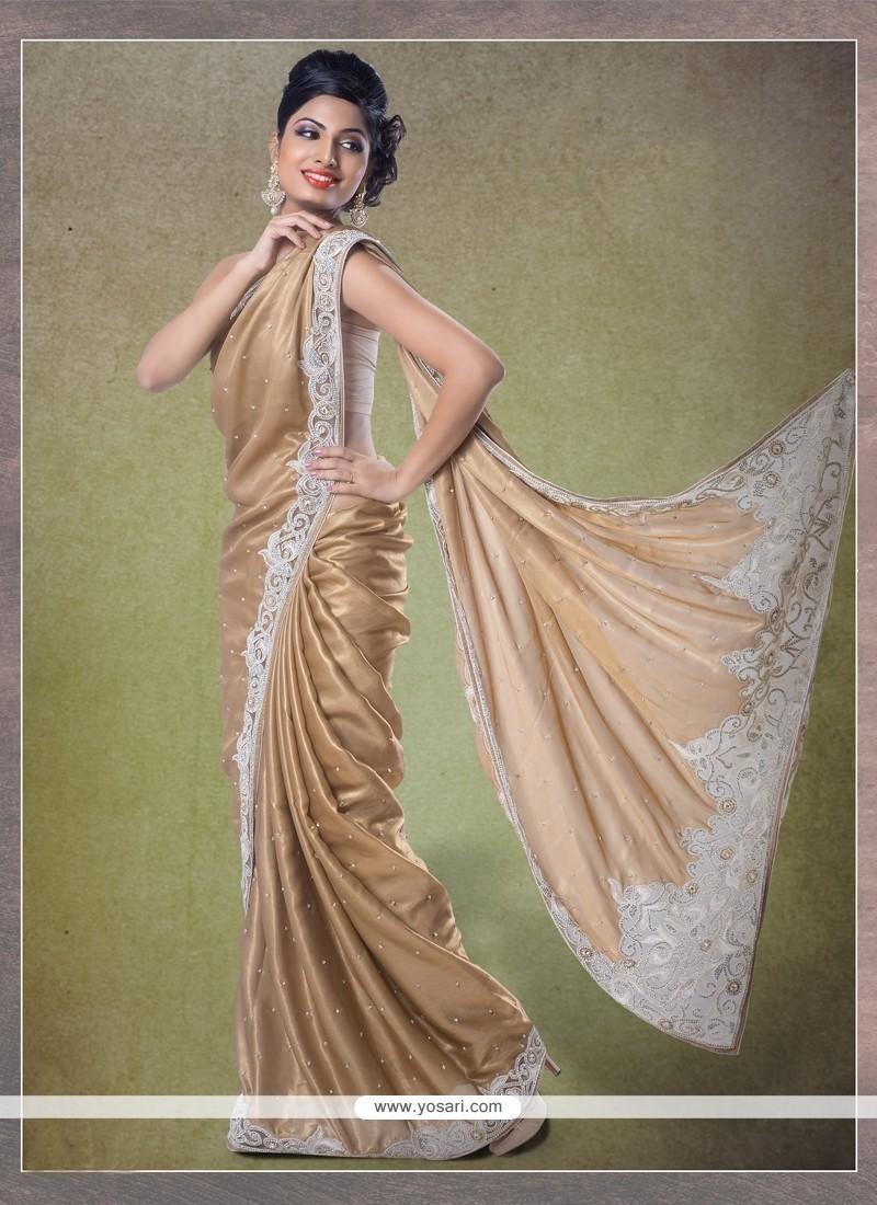 Gleaming Shimmer Georgette Classic Designer Saree