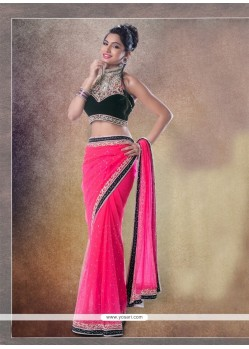 Integral Hot Pink Classic Designer Saree