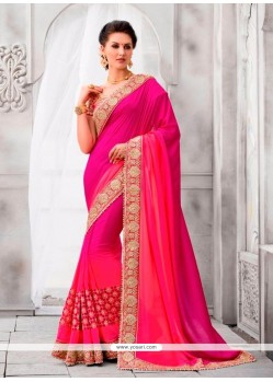 Hypnotic Hot Pink Classic Designer Saree