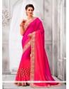 Hypnotic Hot Pink Classic Designer Saree