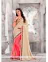 Orphic Pink Patch Border Work Classic Designer Saree