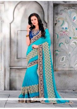 Glamorous Patch Border Work Classic Designer Saree