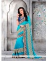 Glamorous Patch Border Work Classic Designer Saree