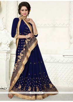 Dazzling Georgette Embroidered Work Designer Saree