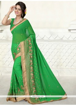 Irresistible Embroidered Work Designer Saree