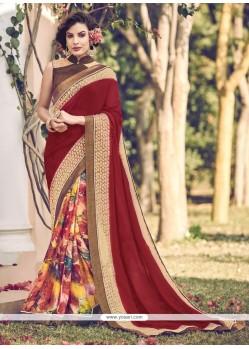 Modish Georgette Multi Colour Designer Saree