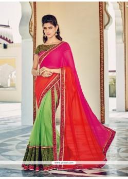 Lavish Multi Colour Georgette Designer Saree