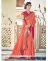 Perfervid Georgette Patch Border Work Designer Saree